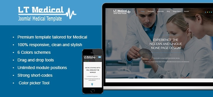 LT Medical - Responsive Joomla Template