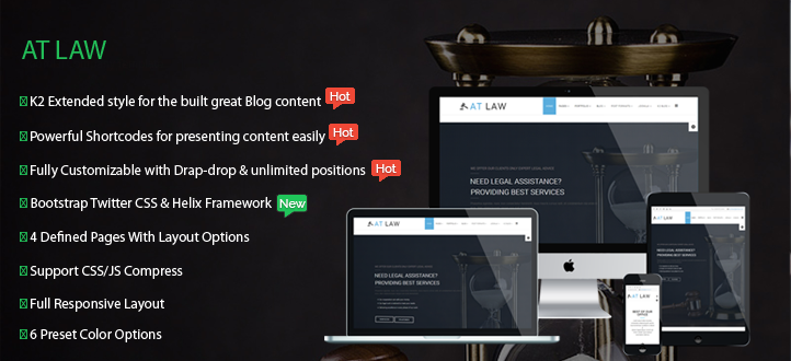 banner - AT Law – Responsive Joomla Template for Law Website
