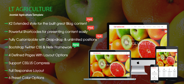 banner - LT Agriculture – Responsive Farmer / Fruits Joomla Template