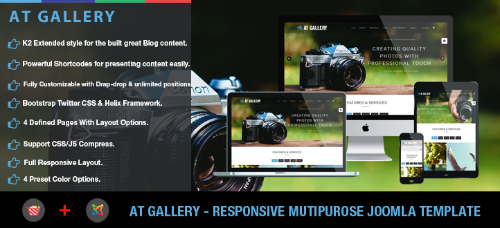 banner - AT Gallery – Photography, Image Gallery Joomla Template
