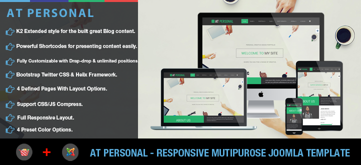 banner - AT Personal – Profile, Personal Joomla Template