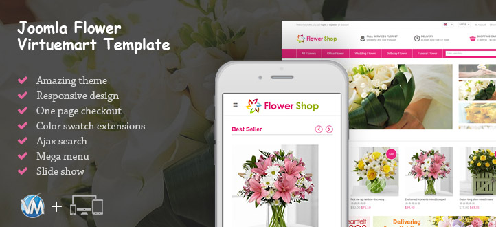 Joomla Flower Virtuemart Template